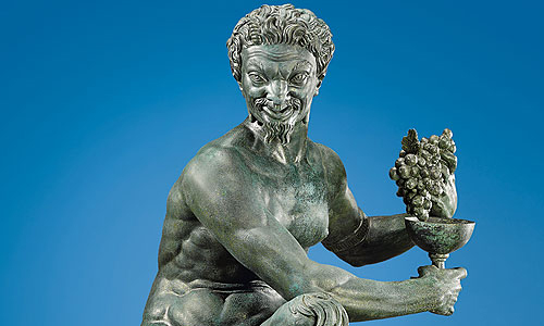 Picture: Satyr with grapes