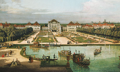 "Picture: Painting ""Schloss Nymphenburg"" by Bernardo Bellotto"