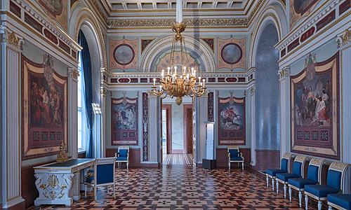 Bild: Service-Saal der Königin / Foto: Bayerische Verwaltung der staatlichen Schlösser, Gärten und Seen