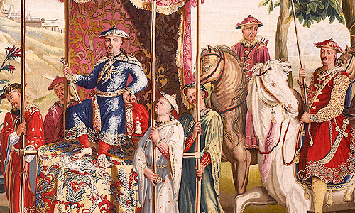 Picture: Tapestry showing a scene at the Chinese imperial court, c. 1730, detail