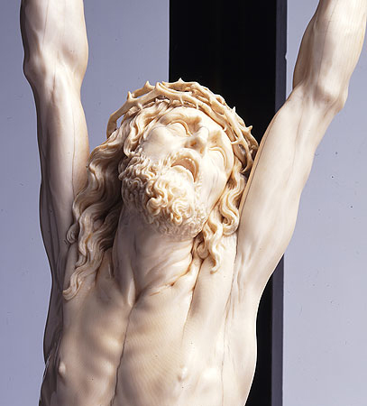 Picture: Crucifix, ivory (detail)