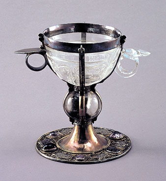 "Picture: Two-hadled cup, known as the ""Henry Chalice"""